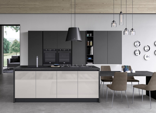 Modern kitchens - Glass