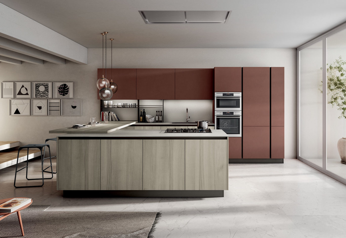 New finishes and compositions for Cloe by Arredo3, featuring versatility - 1