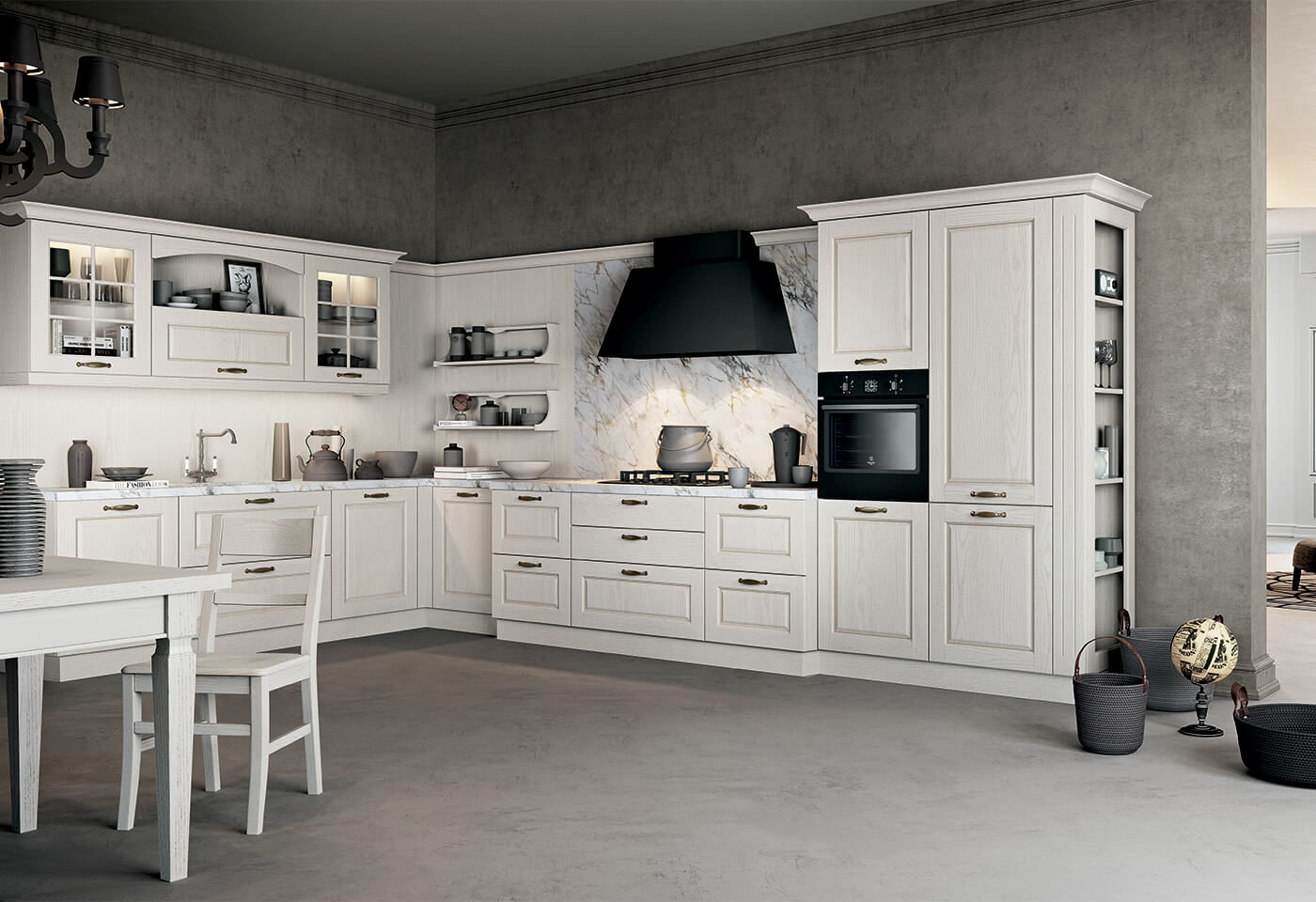 A classic, elegant and light kitchen - Asolo - Arredo3