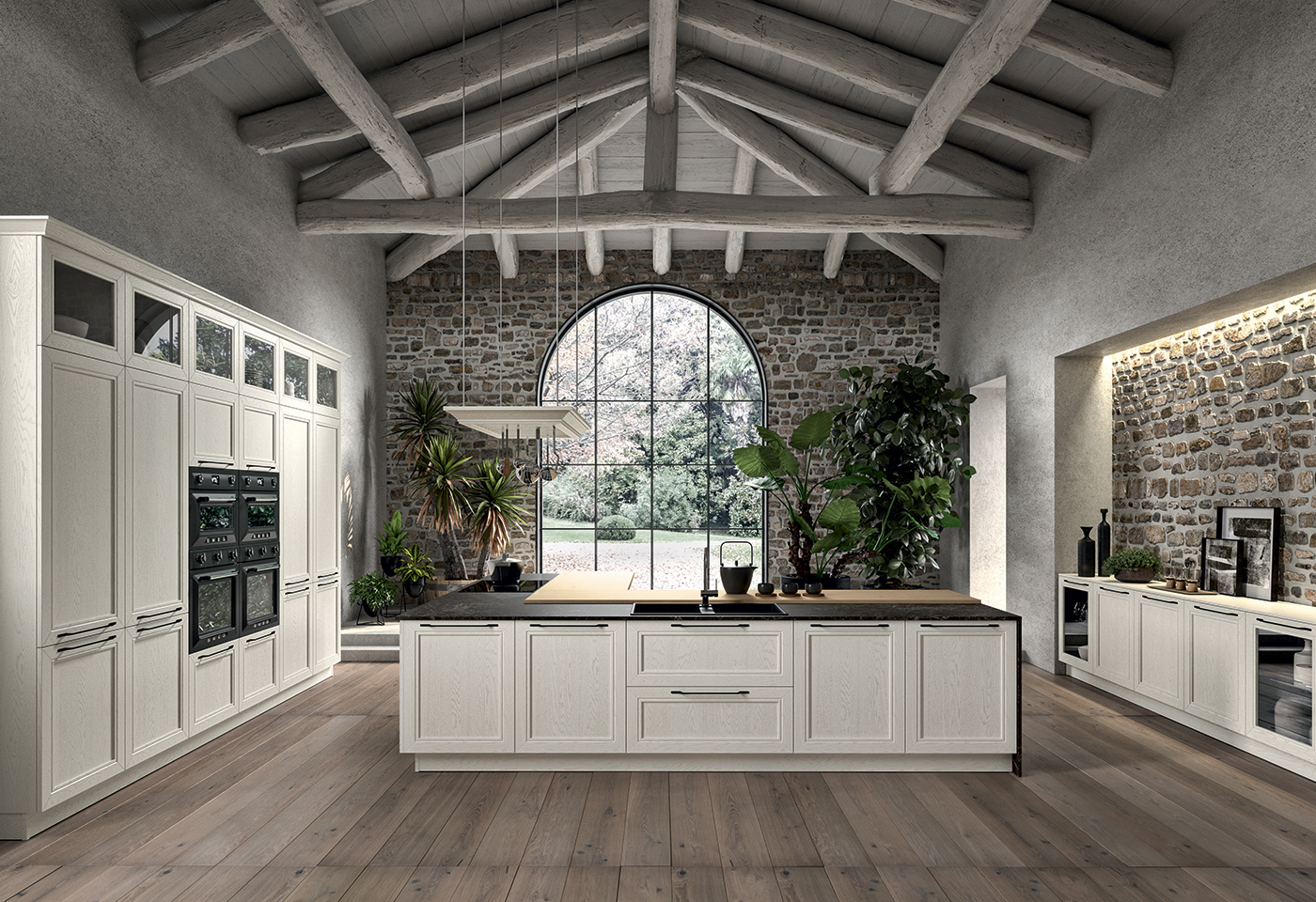 A traditional kitchen with classic lines - Opera - Arredo3