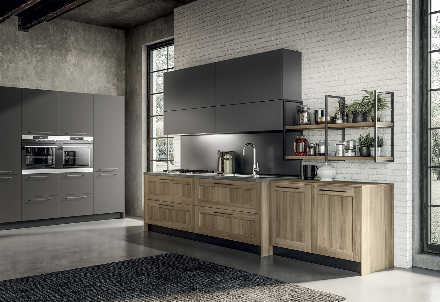 New finishes and compositions for Cloe by Arredo3, featuring versatility