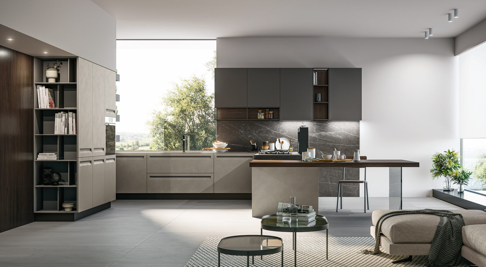 Cucina Open Space Moderna arredo3 kitchens - modern and classic kitchens made in italy