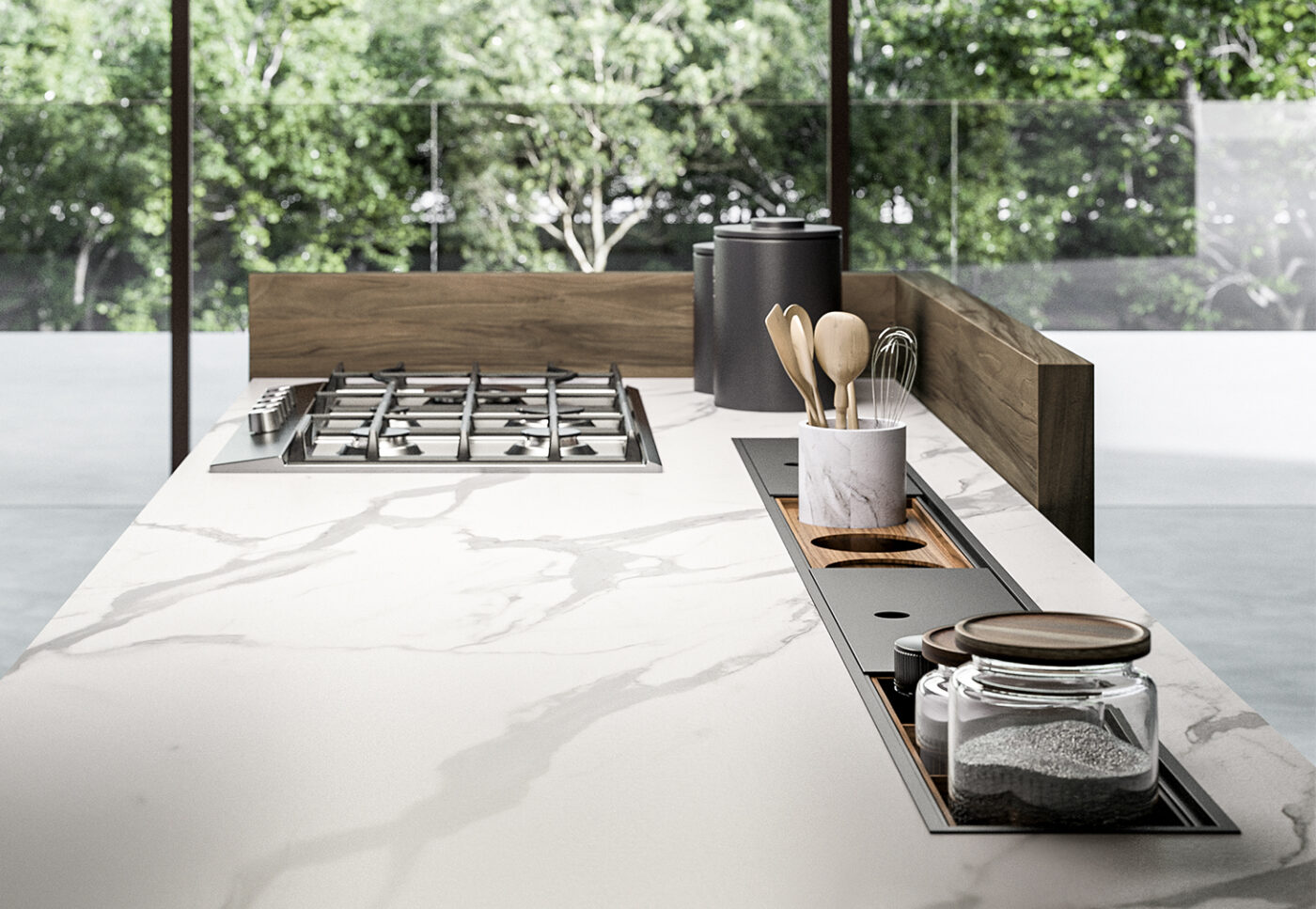 Modus: equipped channels for the Arredo3 kitchen - 2