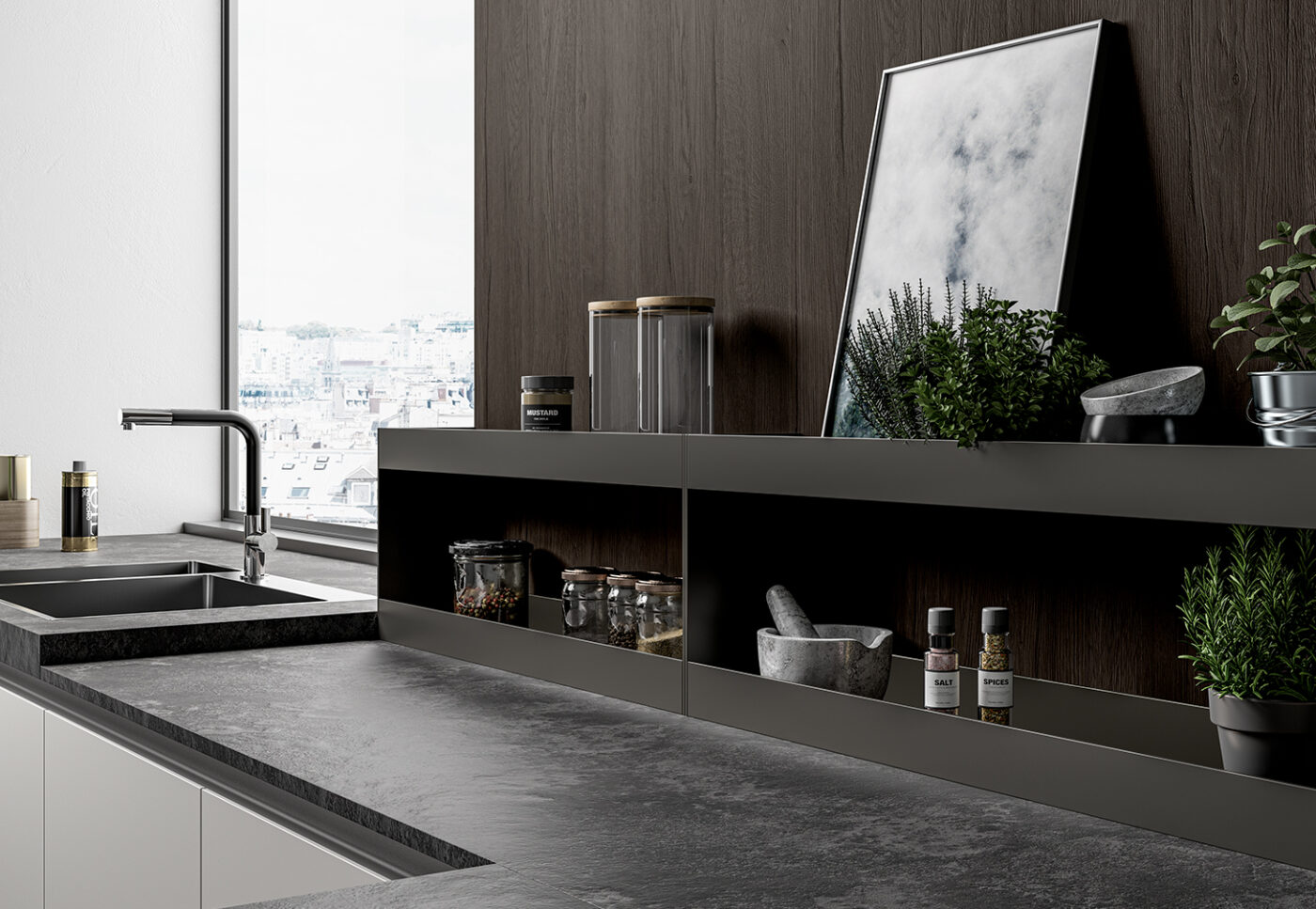 Modus: equipped channels for the Arredo3 kitchen - 1