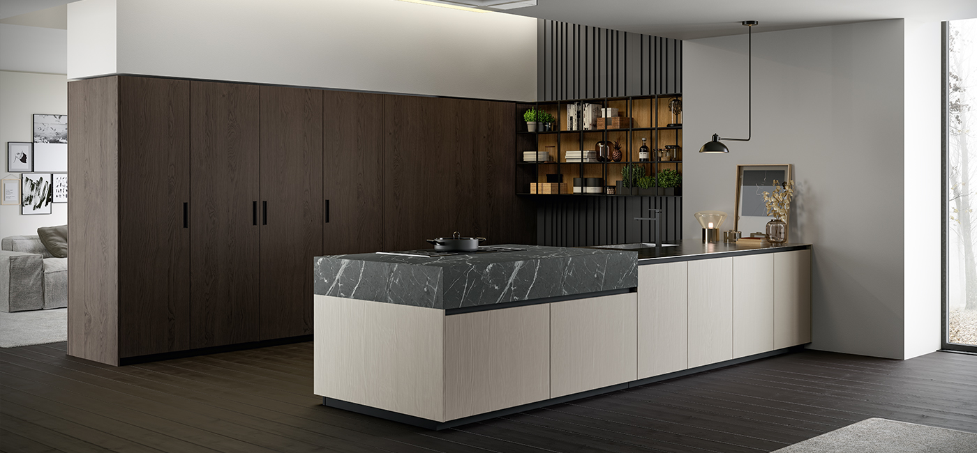 New trendy finishes in the kitchen: Asia by Arredo3 between colors and wood