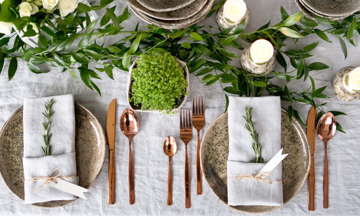 Freshness and simplicity set the tone for tables this summer.